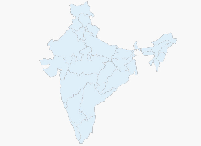 Weather map of India